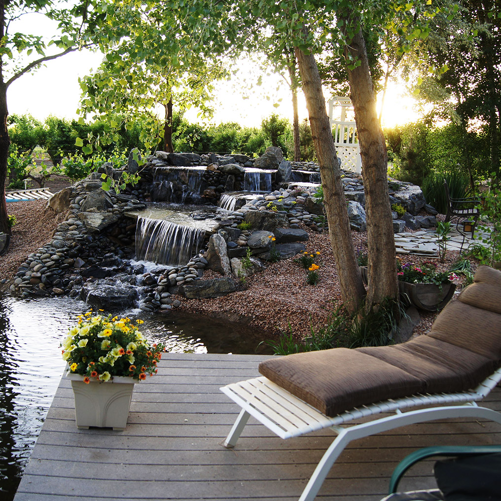 Small Waterfall at Amy's Courtyard in Palisade Colorado